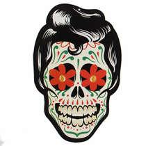 Placa em MDF - Caveira Mexicana - Flores