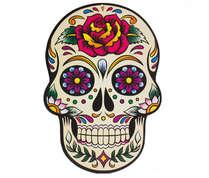 Placa em MDF - Caveira Mexicana - Rosa