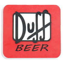 Placa Decorativa MDF - Duff - 24 x 25 cm