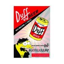 Placa em MDF - Duff Beer