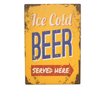 Placa em MDF - Ice Cold Beer - 29x42cm