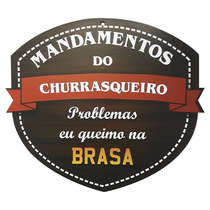 Placa em MDF - Mandamentos do Churrasqueiro