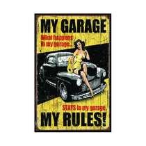 Placa em MDF - My Garage - 28x21cm