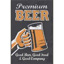 Placa MDF Premium Beer - 44x62cm
