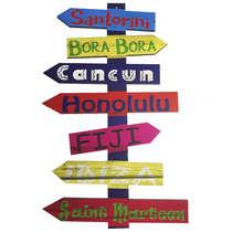 Placa em MDF - Setas Santorini