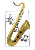 Placa em metal - Sax