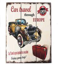 Placa madeira Car Travel - 40 x 30 cm