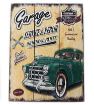 Placa madeira Garage Original Parts - 40 x 30 cm