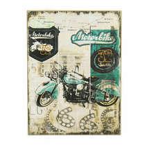 Placa madeira Garage Motorbike - 40 x 30 cm