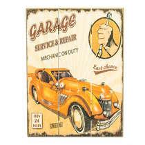 Placa madeira Garage Service & Repair - 40 x 30 cm