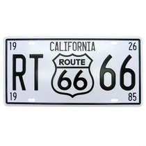 Placa metal Vintage - Rota 66 California