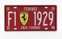Placa metal Vintage - Ferrari F1 1929
