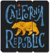 Placa tipo Ripa em MDF -California Republic- 34x32cm