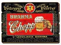 Placa tipo Ripa em MDF - Brahma Chopp - 34x48 cm