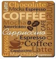 Placa tipo Ripa em MDF - Coffee  - 34x32cm
