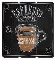 Placa tipo Ripa em MDF - Espresso - 34x32cm