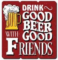 Placa tipo Ripa em MDF - Good Beer - 34x32cm