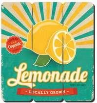 Placa tipo Ripa em MDF - Lemonade- 34x32cm