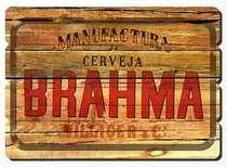 Placa tipo Ripa em MDF - Manufatura Brahma- 34x48 cm