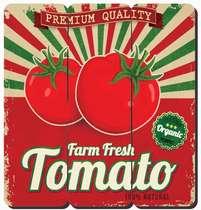 Placa tipo Ripa em MDF - Tomato - 34x32cm