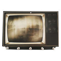 Porta Chaves MDF - TV Antiga