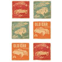 Porta Copos Chevrolet House Collection - Jogo 6 unidades