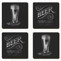 Porta Copos - Beer Premium - Jogo 4 unidades