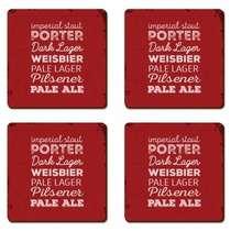 Porta Copos - Beer Styles - Jogo 4 unidades