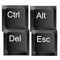 Porta Copos - CTRL + ALT + DEL + ESC - 4 und