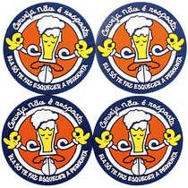 Porta Copos - Cerveja não é a resposta - 4 unidades