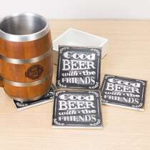 Kit 4 Porta Copos - Good Beer - Suporte (Brinde)