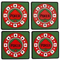 Porta Copos - POKER - 4 unidades