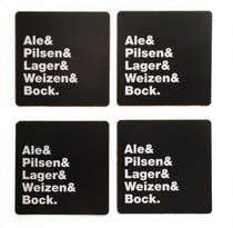Porta Copos - Tipos de Cerveja - 4 und