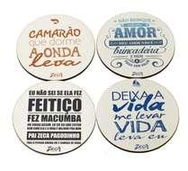 Porta Copos - Zeca Pagodinho - Letras 1 - 4und.