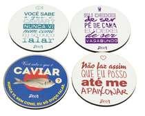 Porta Copos - Zeca Pagodinho - Letras 2 - 4und.