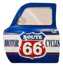 Porta de carro decorativa com espelho - Route 66