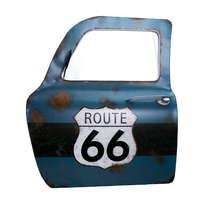 Porta de carro decorativa com espelho- Rota 66