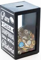 Porta tampinhas - Cada Tampinha, Uma Nova História 26x15 cm