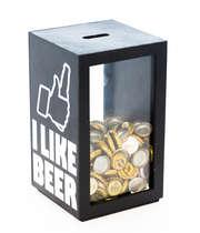 Porta tampinhas - I Like Beer 26x15 cm (Preto)