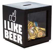 Porta tampinhas - I Like Beer (Preto) 16x15 cm
