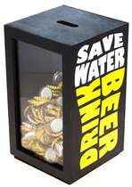 Porta tampinhas - Save Water, Drink Beer 26x15 cm