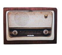 Pufe / Puff Radio Retrô - Grande