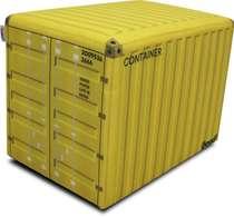 Pufe / Puff - Container Amarelo