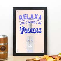 Quadro O mundo da Vodkas - Linha CDB Designer 33x22 cm