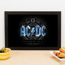 Quadro AC/DC Ice - Linha CDB Designer 33x22 cm
