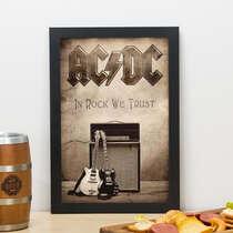 Quadro AC/DC In Rock We Trust - 33x23 cm