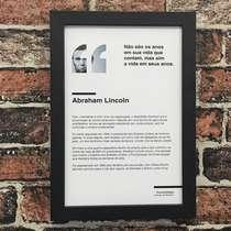 Quadro Abraham Lincoln - Linha CDB 33x22 cma CDB - 33x22 cm