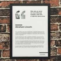 Quadro decorativo Abraham Lincoln - Linha CDB 45x32 cm
