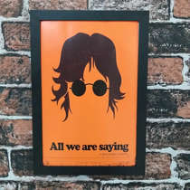 Quadro All We Are Saying - Linha CDB Designer - 33x22 cm