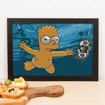Quadro Bart Simpson Nevermind - 23x33 cm